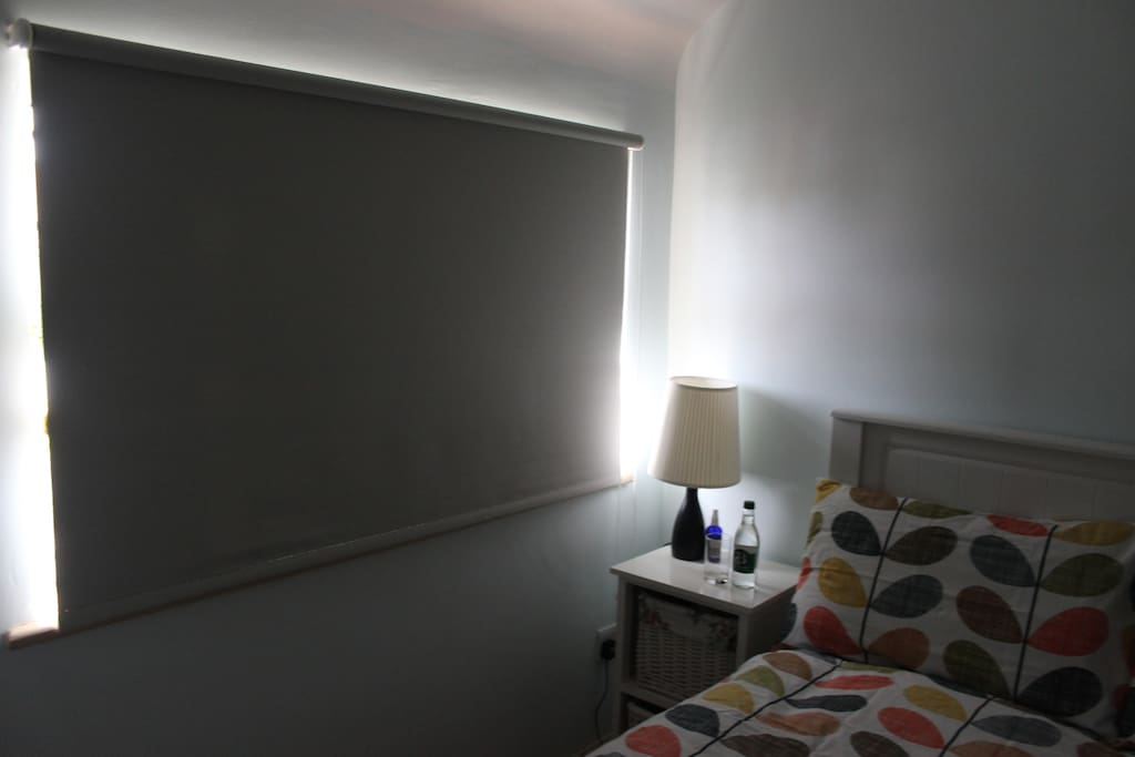 Black out blinds for holiday sleep in!
