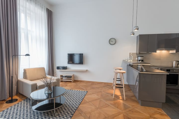 Vladislav Prague Apartment No.1 - Living room