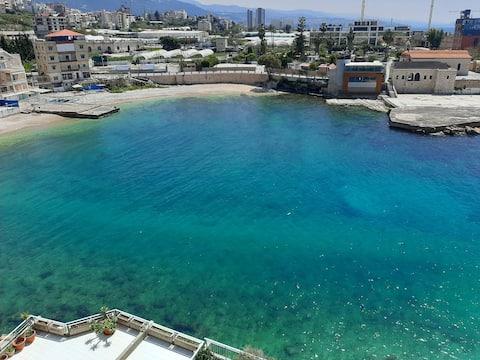 Beachstudio with fantastic view, beach and pool