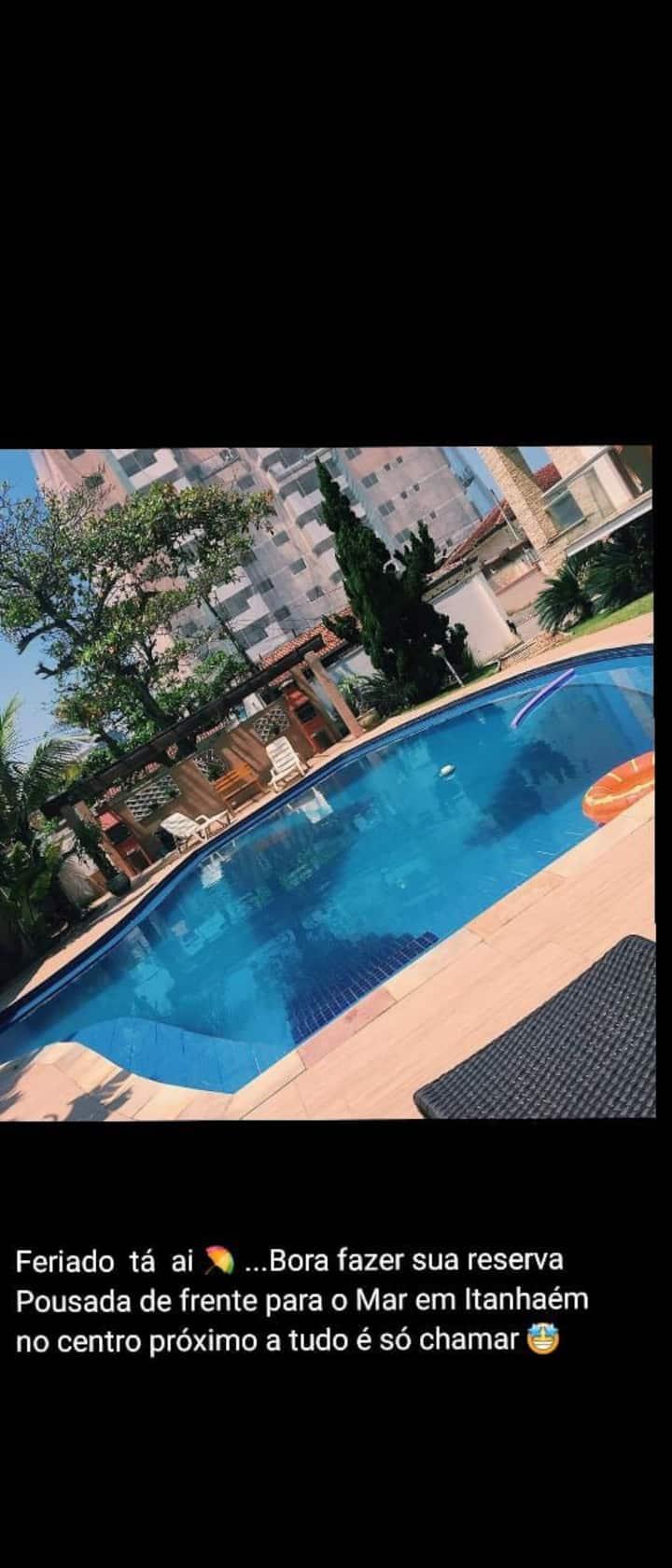 Hostel e Pousada com suíte Master e piscina