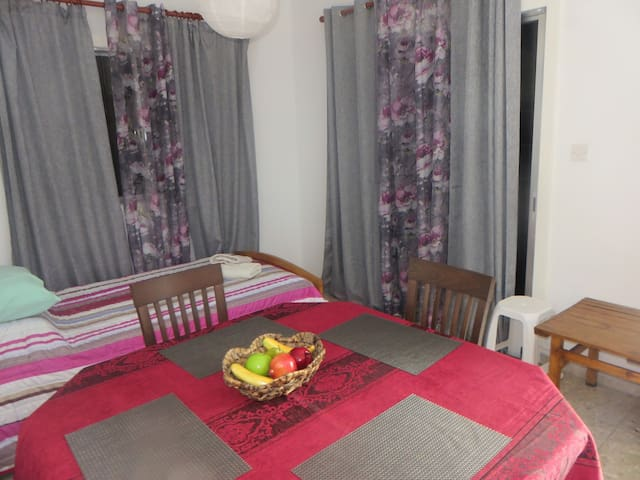 Dining and single bed