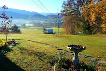 View of valley and Smoky Mountains from property.