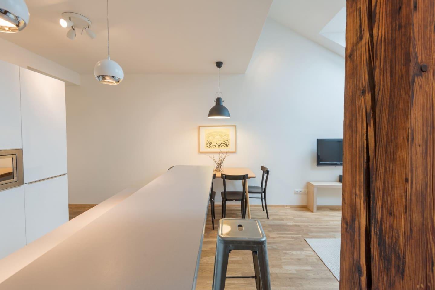Vladislav Attic Duplex Prague apartment - Kitchen