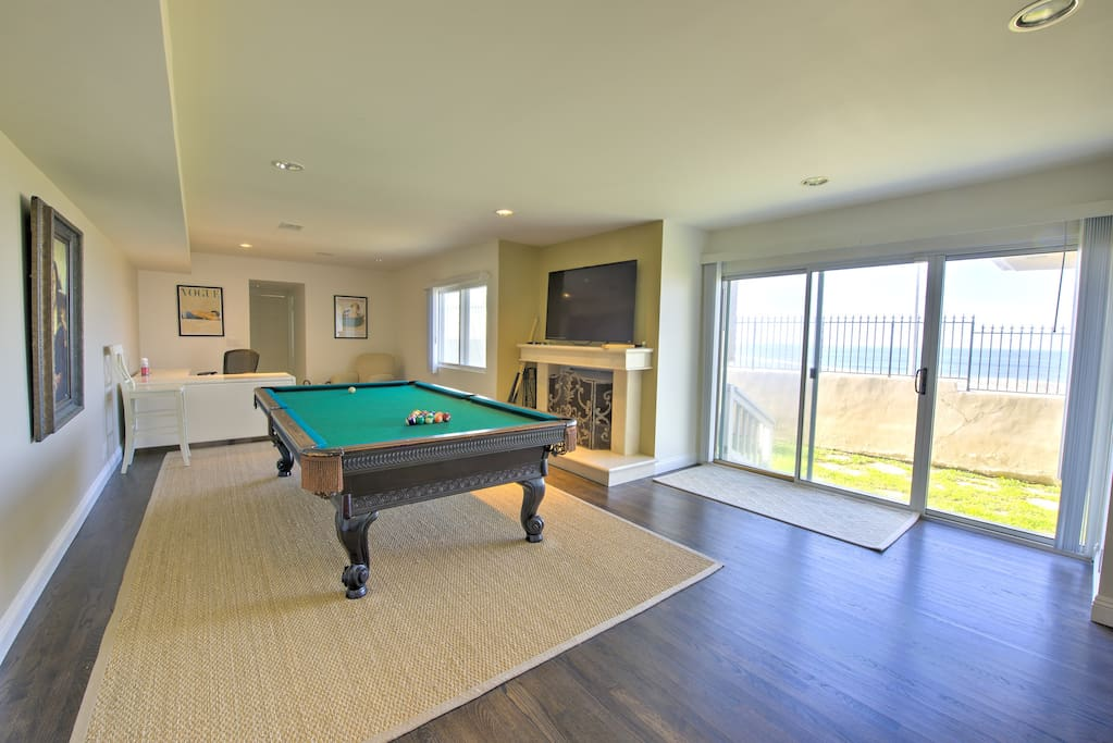 Billiards room.