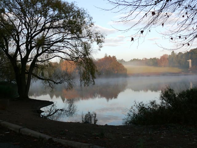 A winters morning at the dam