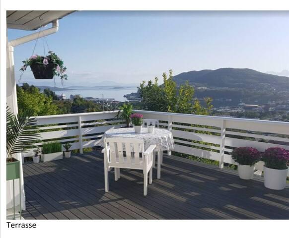 Hus til leie sentralt i Harstad med flott utsikt!