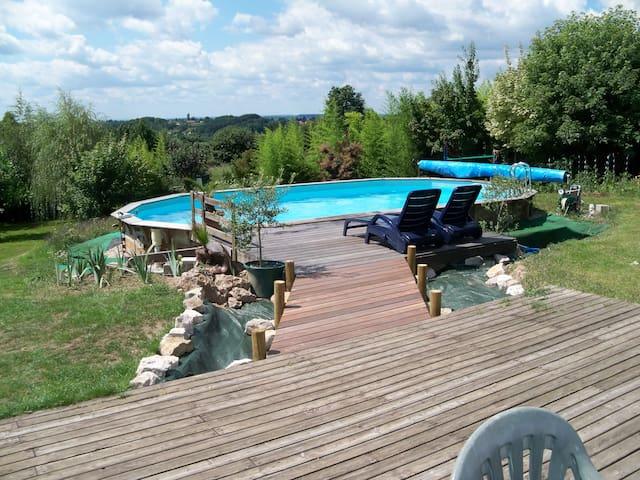 Maison piscine, sauna, salle muscu - Gourdon - Talo