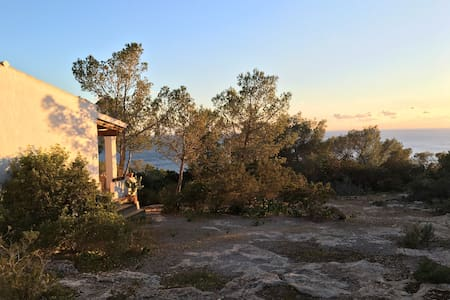 House in the forest with sea views - Formentera - Hus