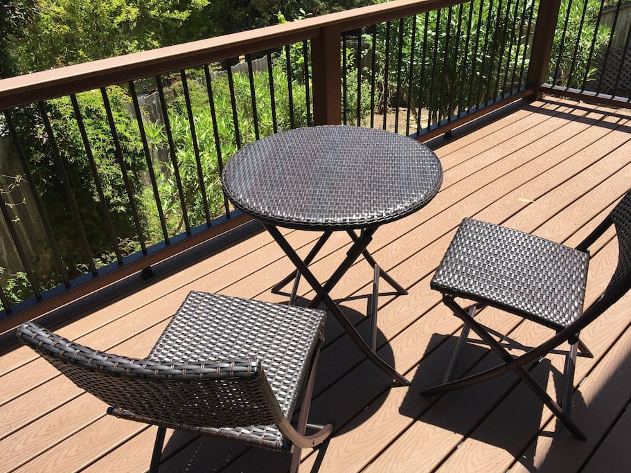 Deck to enjoy a glass of wine