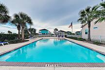 The sparkling community pool is only 100 yards from your home.