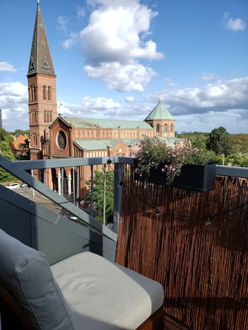 Bright and spacious penthouse flat in Valby