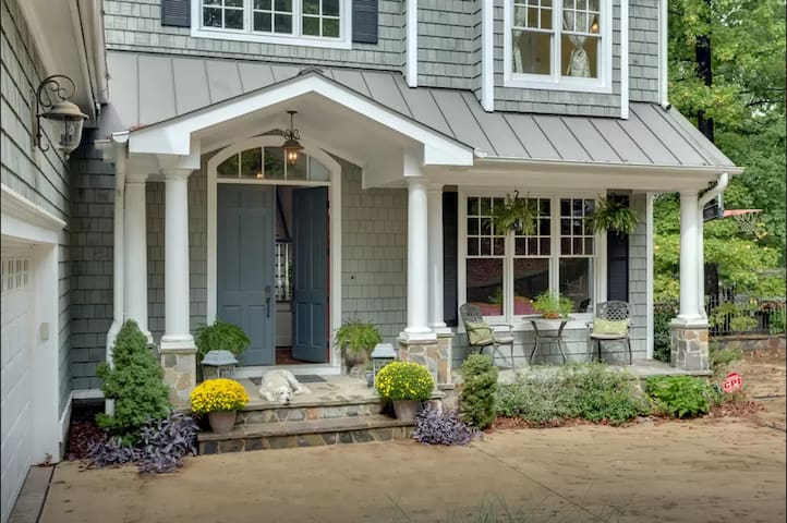 Enjoy sunshine and breakfast on the front porch.