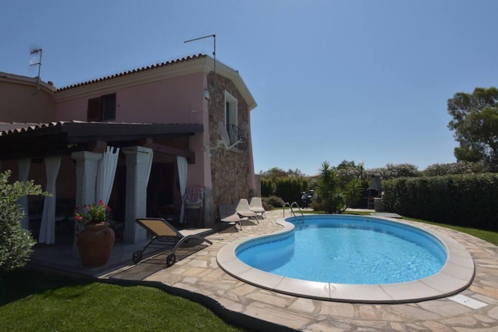 Veranda and swimming-pool view