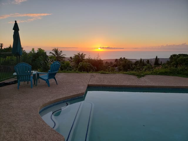 Your own private pool, with stunning ocean sunsets