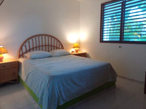 Bedroom with green view