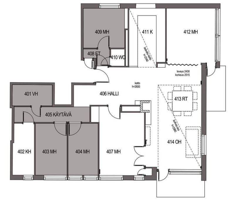 Room 404 is your bedroom