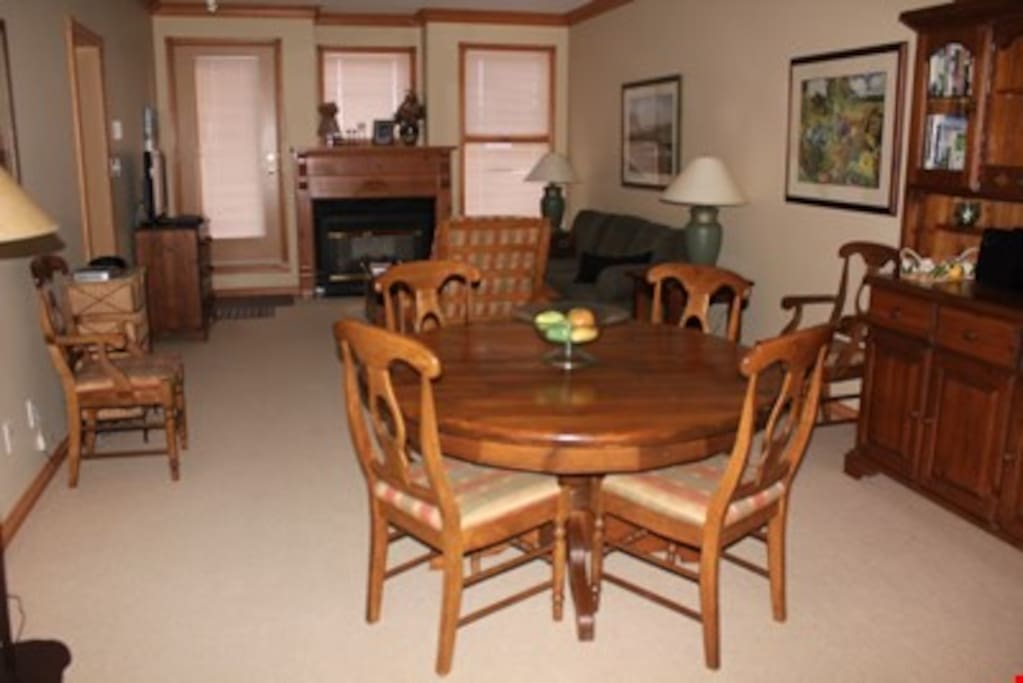 Enjoy meals together or entertain guests at the dining table.