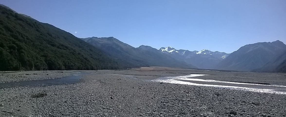 Waimakariri River going towards Arthurs Pass from the East - about 4-5 kms away from the village
