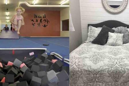 *STAY & PLAY* 5000 sq. Gym, Custom Master & Loft!