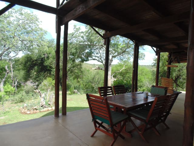 Side veranda deck and outside dining area