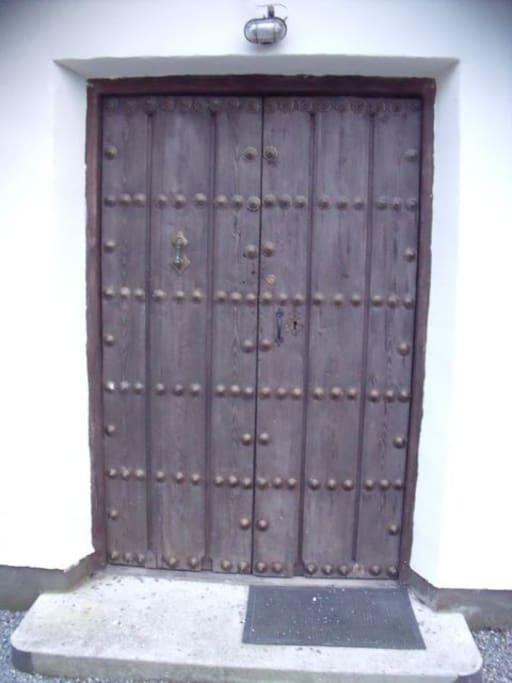 Antique entrance doors