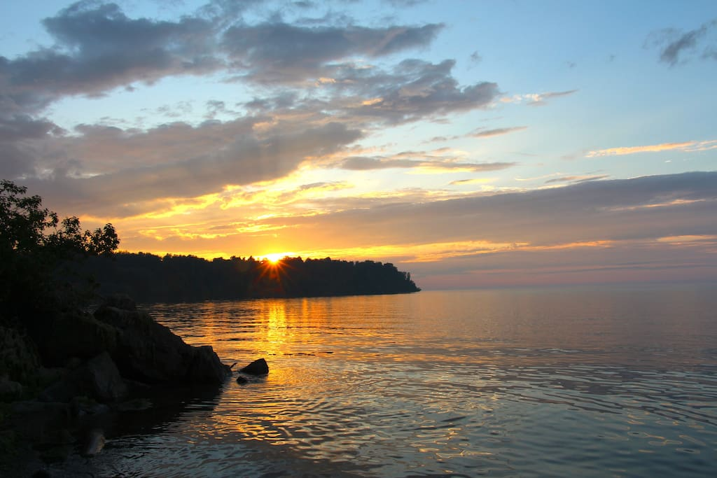 We have the Best sunsets, on our little cove.