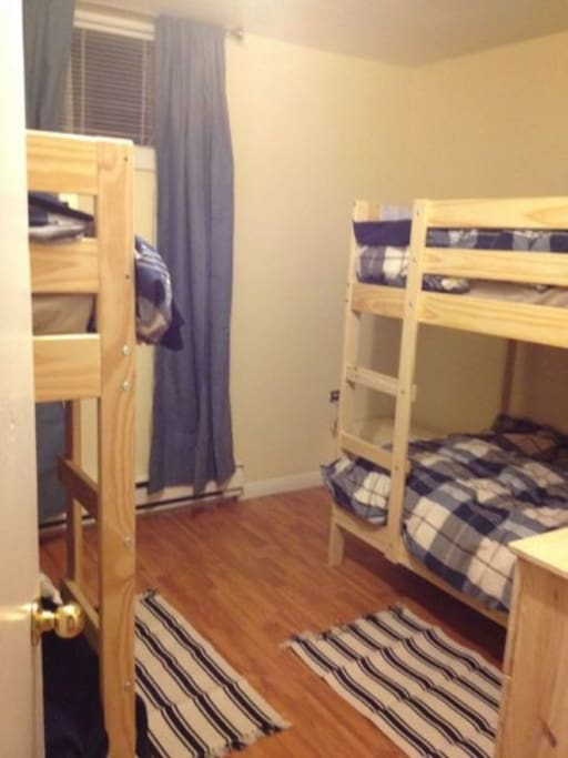Two bunk beds, perfect for kids!
