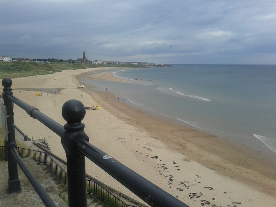 Tynemouth Longsands for surfing or have a coffee at Crusoes.