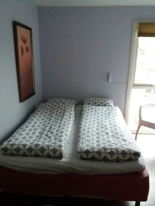 comfortable bed, 1,5 m. Bedding in flannel wintertime