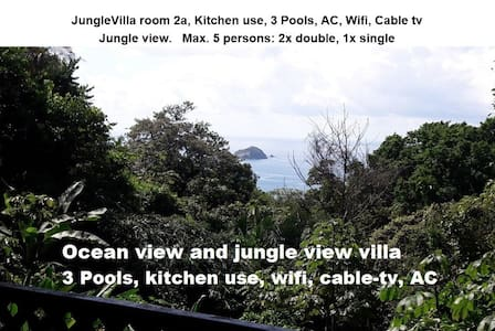 JungleVilla, Max.5p, 3 Pools, Kitchen use, AC, R2a - Quepos