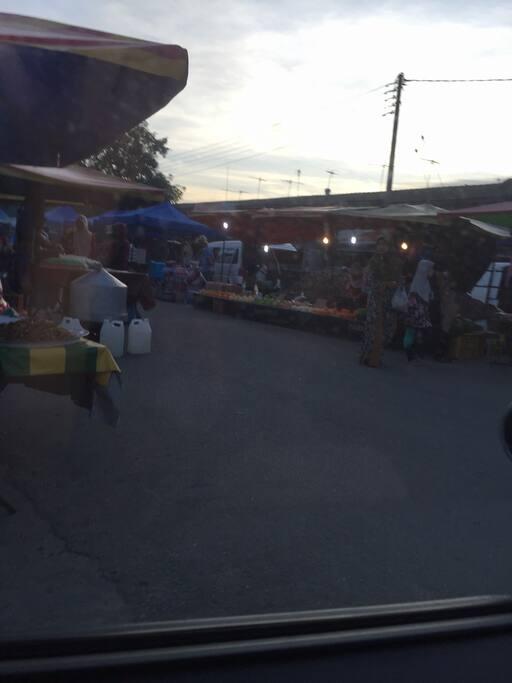 Friday night market- walk 10 minutes