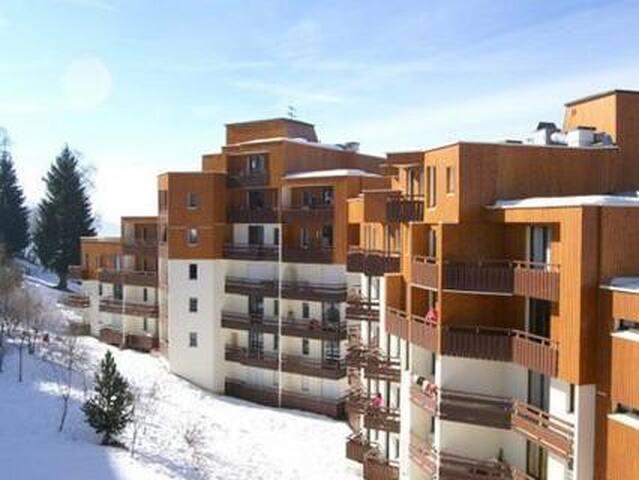 Grand studio au pied des pistes avec belle vue - Les Adrets - Apartment