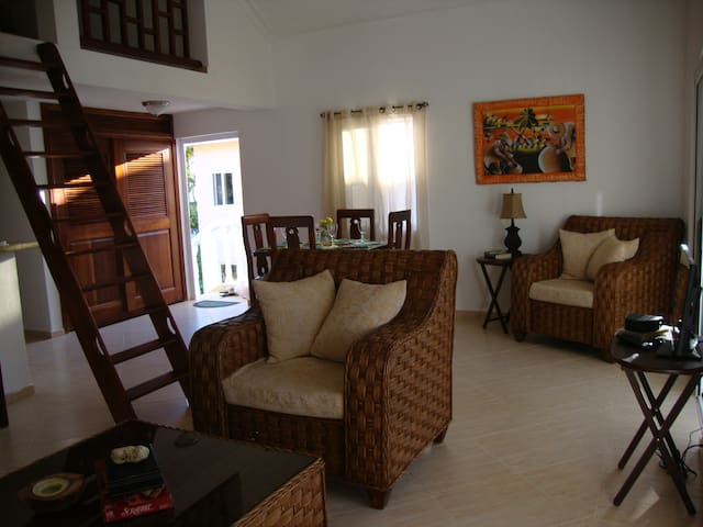 2 Bedroom Condo plus Loft,Beach,Infinity Pool,A/C - Las Galeras - Kondominium