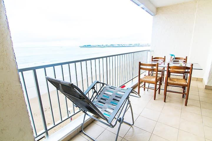 Chez almato appartement avec accés direct plage