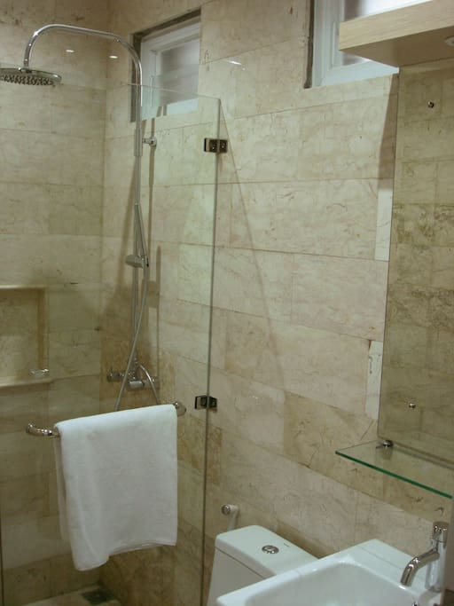 Ensuite Bathroom with marble finishing