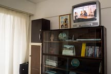 High-speed WiFi internet, Netflix, Youtube, and 50 good DVD movies. TV set is now a 32-inch Sony LCD (photo to be updated).