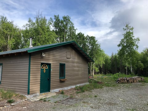 Cabin near Hatcher Pass with airstrip and garden