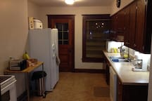 View of kitchen from hallway.