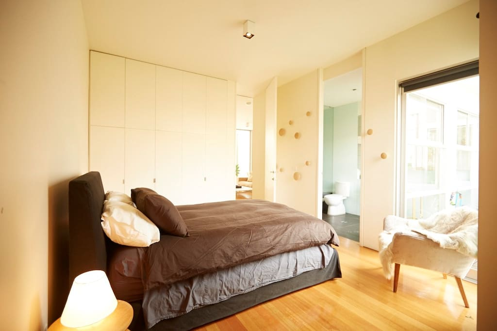 Master Bedroom with ensuite bathroom (shower and bath)