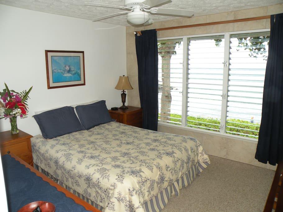 Master bedroom, overlooks ocean!