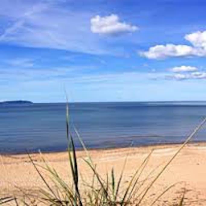 Best beach in Sweden - view of Kullen