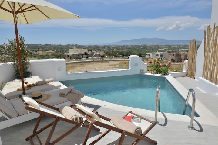 Naxian Album villa KLEIO in Naxos private pool