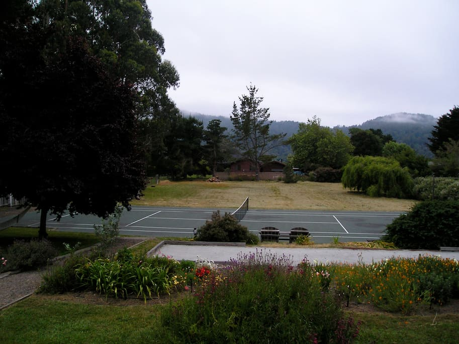 View from the deck; the court is yours to enjoy.