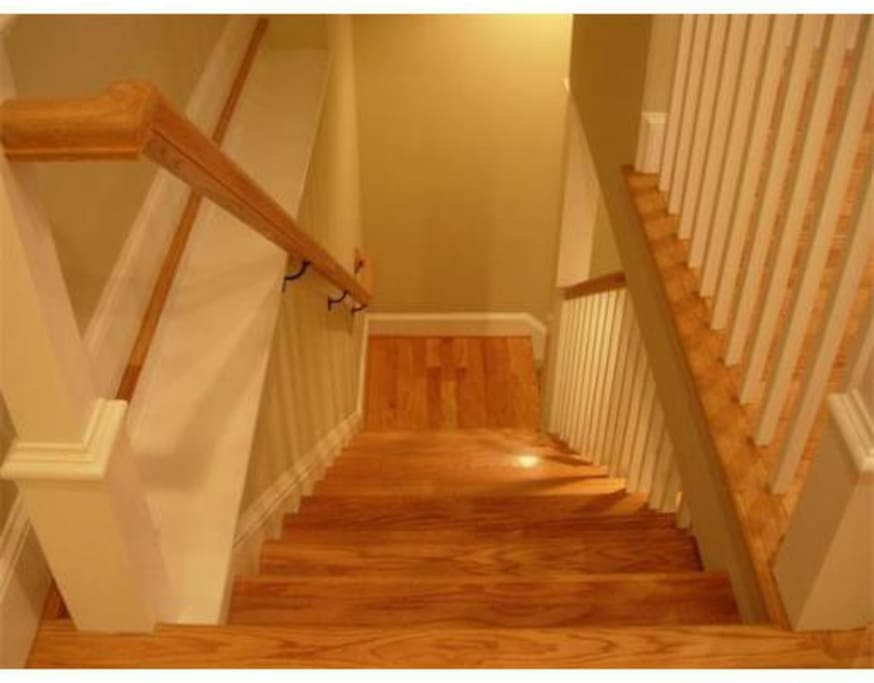 stairs toward the bedroom