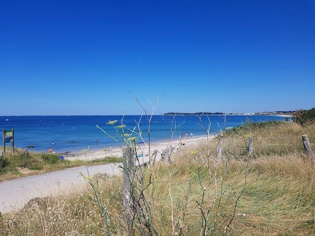 Emplacement de camping au bord de plage