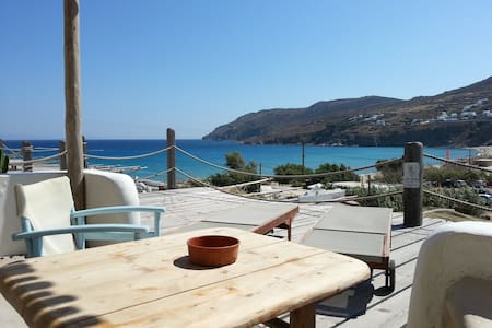 STUDIO BY THE BEACH WITH SEA VIEW  - Mykonos
