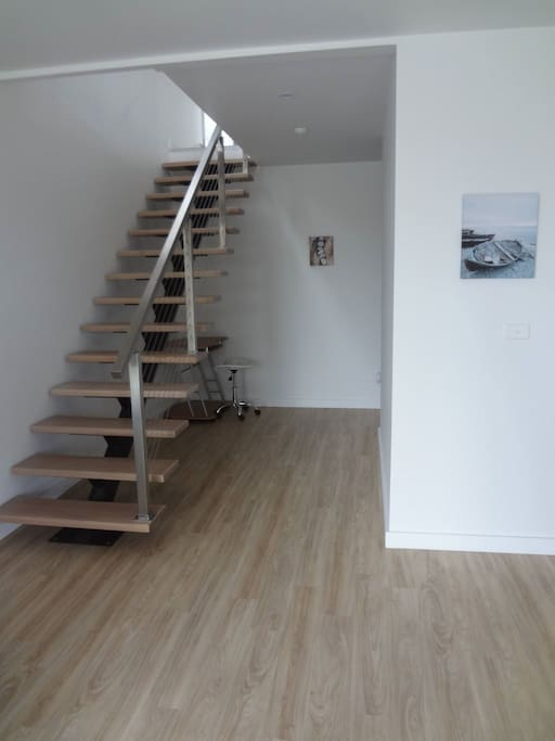 Internal Stairs leading to large open plan living area.
