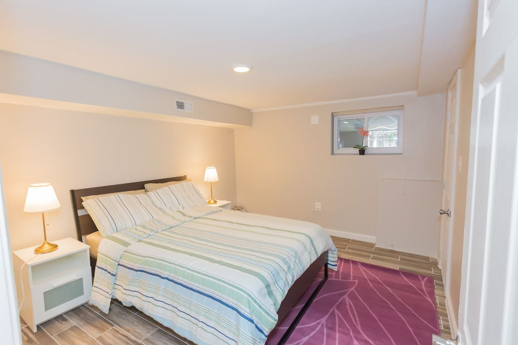 Large bedroom #2 with double bed