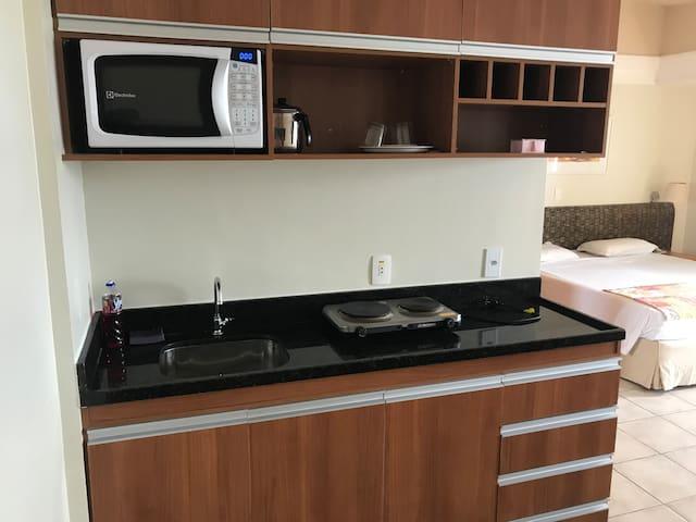 Flat com cozinha no Wyndham Garden