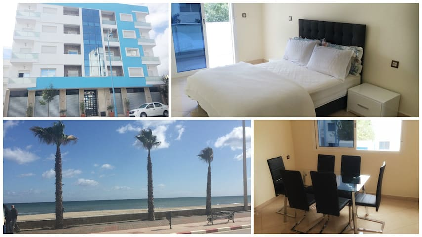 Modern 3 bedroom New apartment 5 min walk to beach - Martil - Apartamento